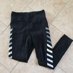 Black leggings w strips on side #11